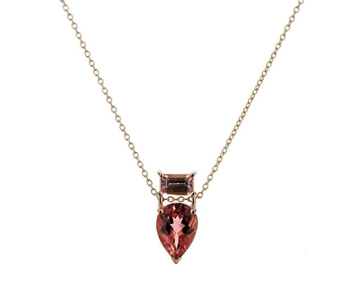 Peach Tourmaline Pendant Necklace - TWISTonline
