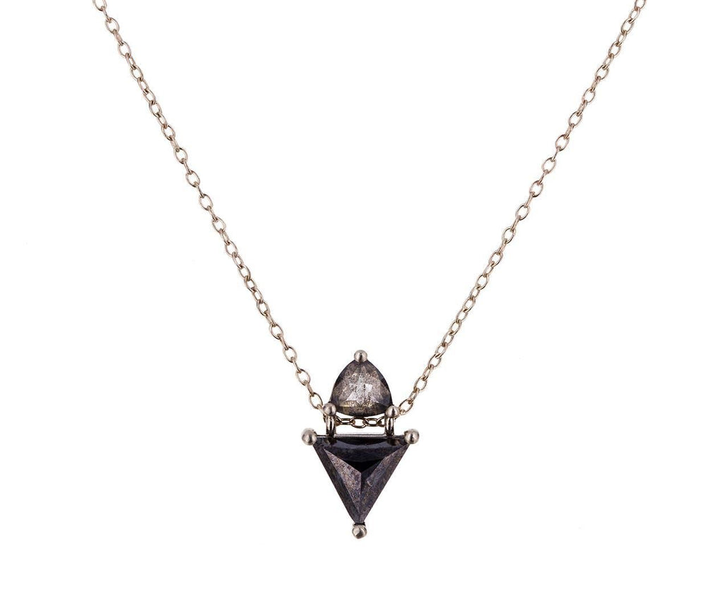 Salt and Pepper Double Diamond Necklace - TWISTonline