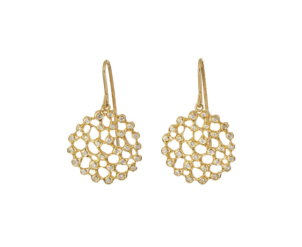 Diamond Circle Earrings zoom 1_nicole_landaw_gold_diamond_cluster_circular_earr