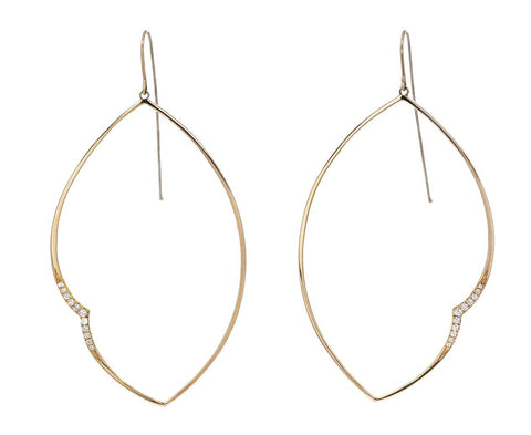 Sculpted Diamond Leaf Earrings - TWISTonline