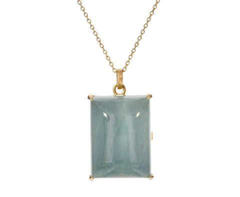 Aquamarine Locket Pendant Necklace - TWISTonline