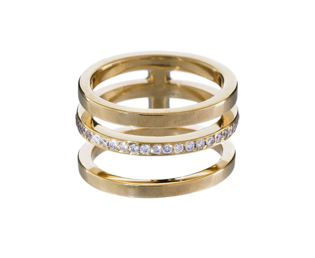 Three Row Diamond Band zoom 1_nicole_landaw_gold_diamond_triple_stack_ring