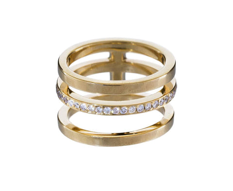Three Row Diamond Band - TWISTonline