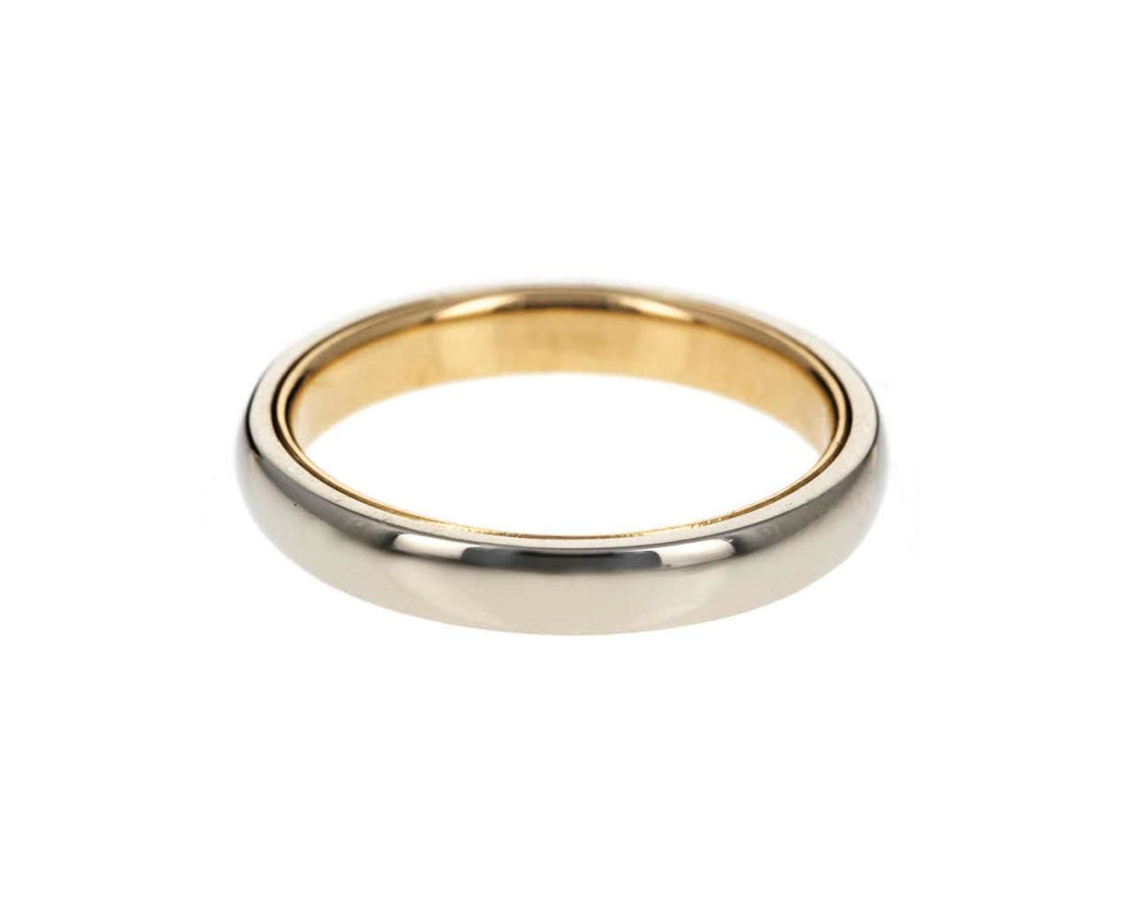 Men's White and Yellow Gold Band zoom 1_nicole_landaw_white_gold_high_polish_mens_ring