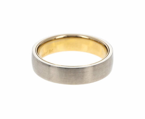 Men's White and Yellow Gold Band - TWISTonline