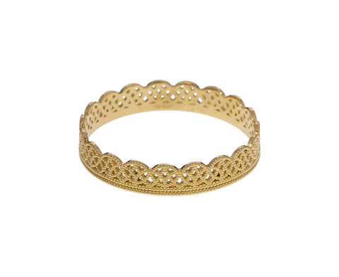 Gold Thin Lace Band