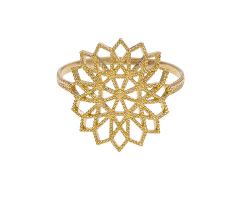 Lace Deco Flower Ring