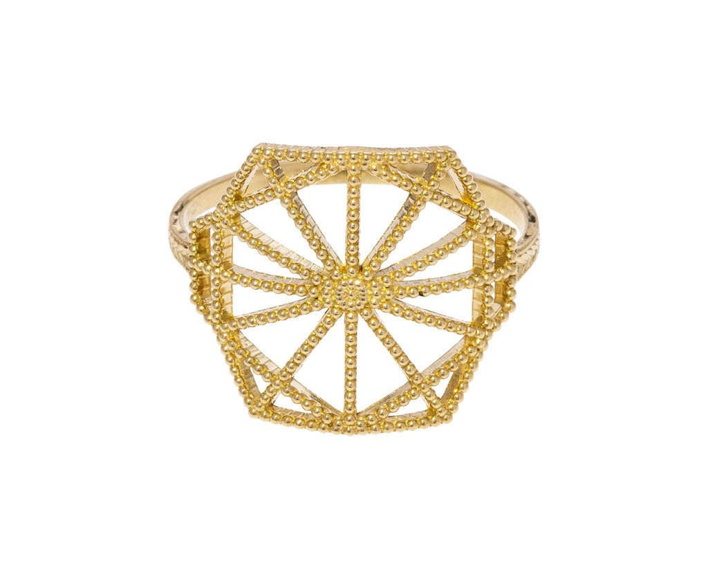 Lace Deco Shield Ring