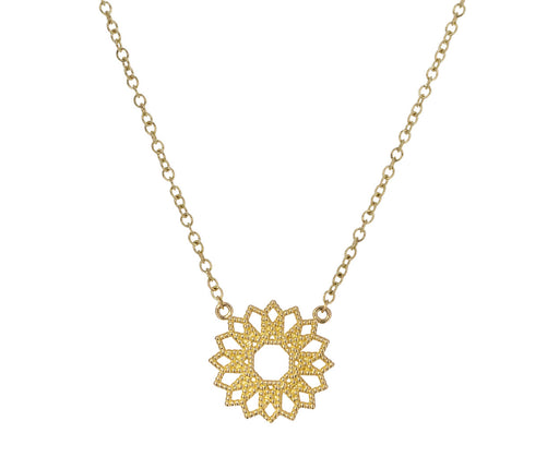 Petite Lace Flower Deco Pendant Necklace