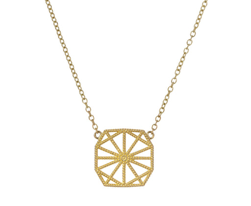 Petite Lace Deco Web Pendant Necklace - TWISTonline