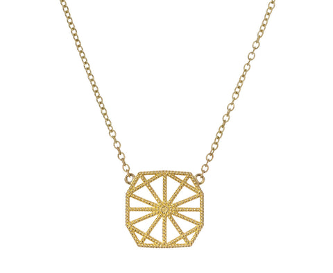 Petite Lace Deco Web Pendant Necklace