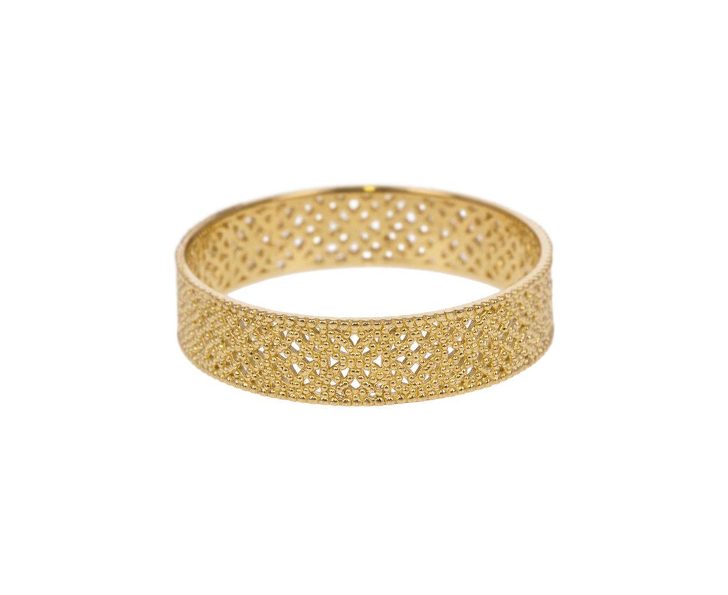 Wide Straight Lace Band zoom 1_grace_lee_gold_straight_lace_ring