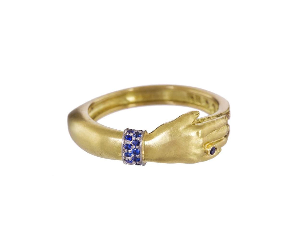 Diamond Sapphire and Gold One Hand Band - TWISTonline
