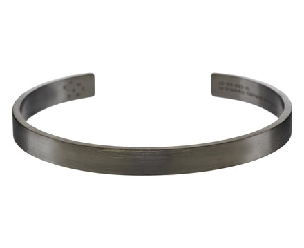21 Grams Black Silver Men's Cuff Bracelet - TWISTonline