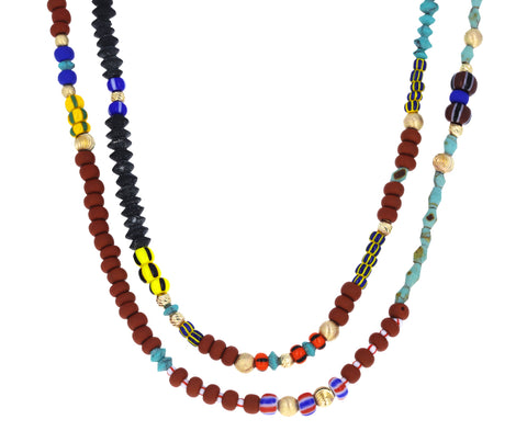 Long African Bead Chain