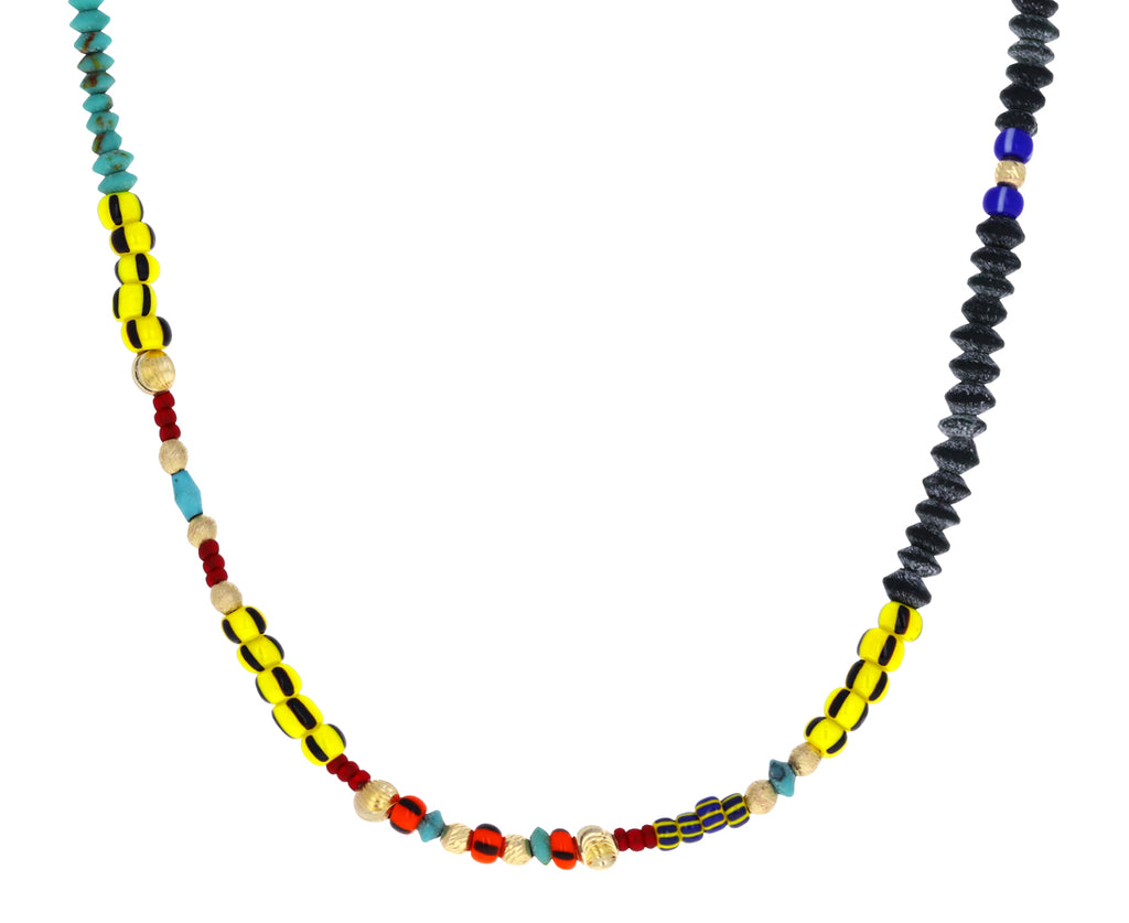 Short African Beaded Necklace