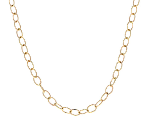 Short Micro Rosa Chain Necklace