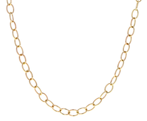 Long Micro Rosa Chain Necklace