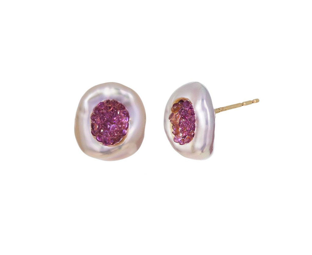 Freshwater Keshi Pearl and Amethyst Piccolo Earrings zoom 1_little_h_freshwater_pearl_amethyst_earrings