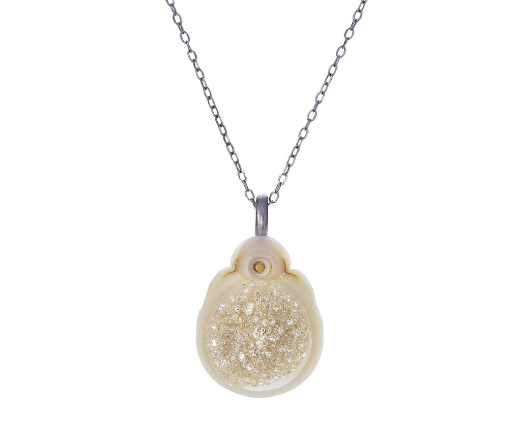 White South Sea Pearl and Diamond Geode Necklace - TWISTonline