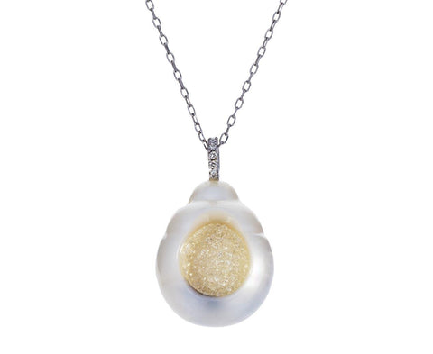 South Sea Pearl and Diamond Finestrino Necklace - TWISTonline