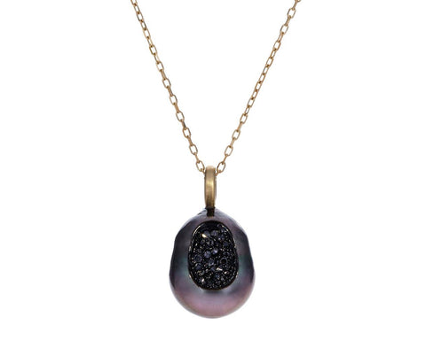 Tahitian Baroque Pearl and Black Diamond Finestrino Necklace - TWISTonline