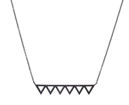 Black Diamond Izel Bar Pendant Necklace - TWISTonline