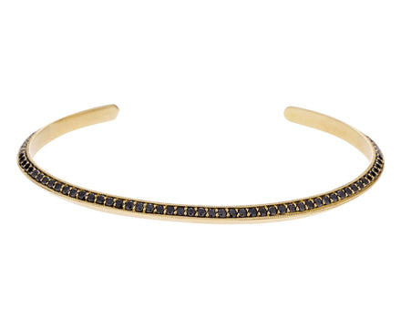 Black Diamond Knife Edged Gold Cuff - TWISTonline