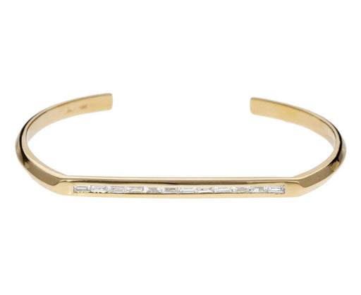 White Diamond Baguette Flat Top Cuff - TWISTonline