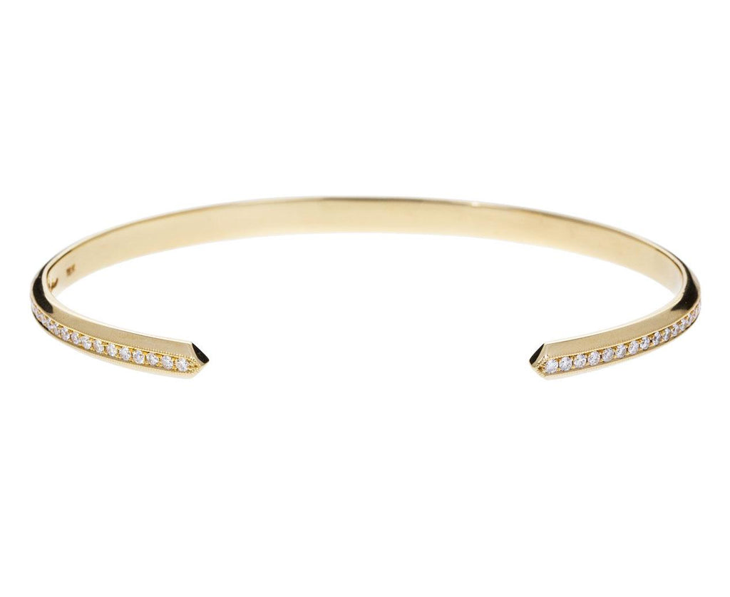 White Diamond Pavé Knife Edge Cuff - TWISTonline