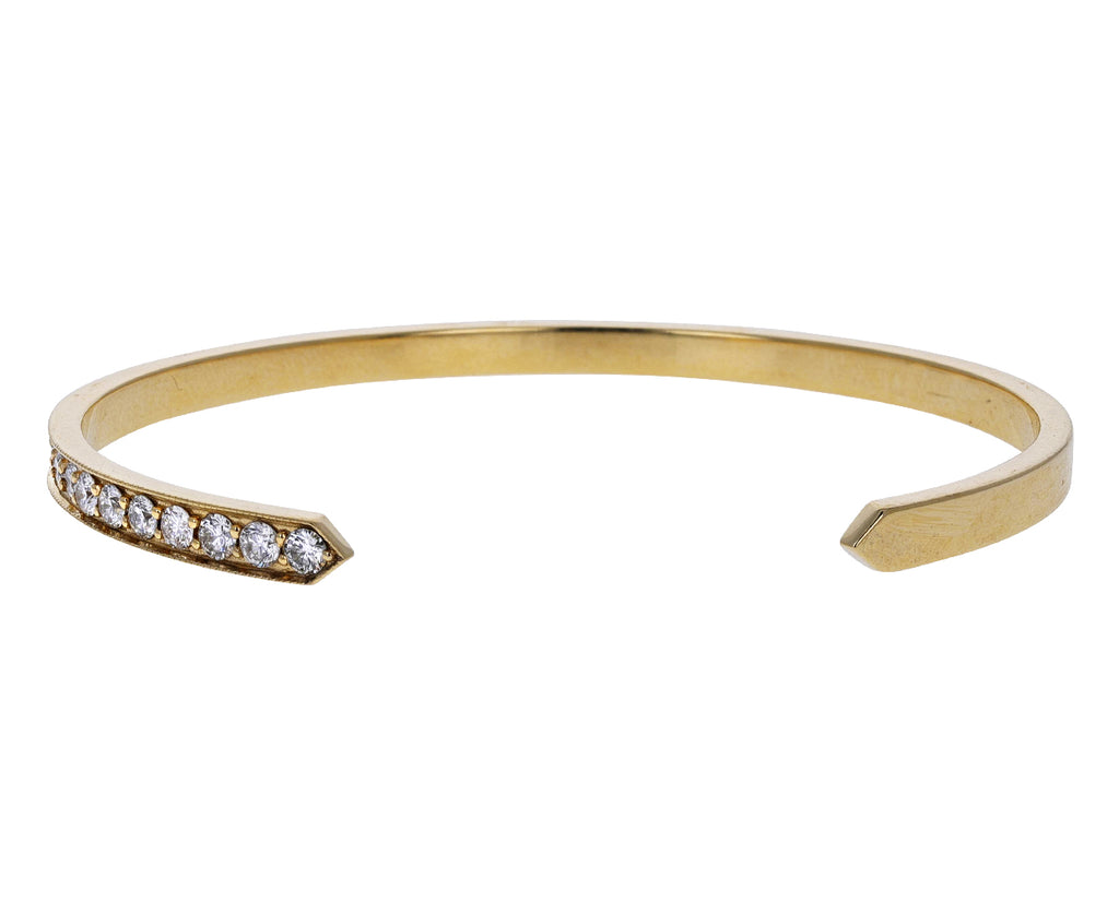 One Sided Diamond Chevron Cuff Bracelet