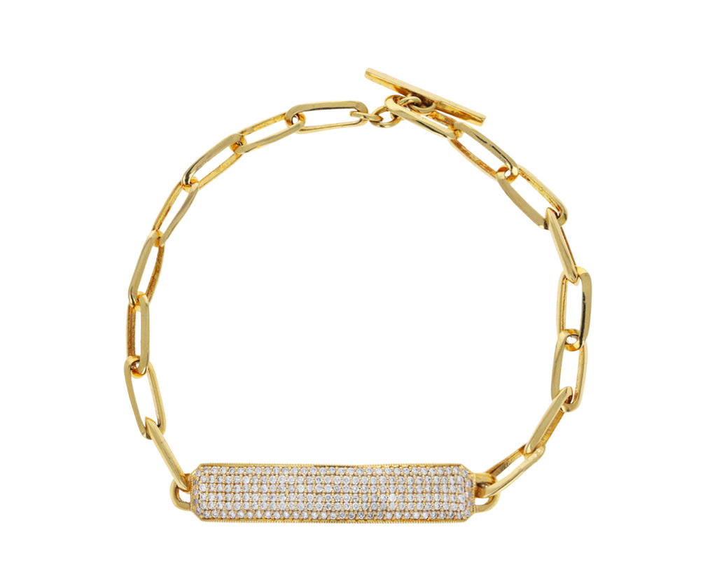 Diamond ID Chain Bracelet