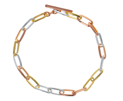 Mixed Metal Knife Edge Bracelet - TWISTonline