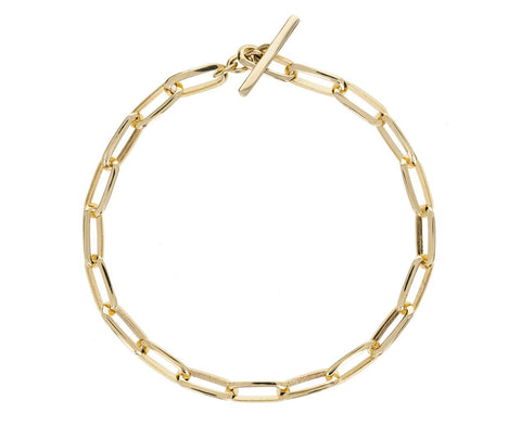 Knife Edge Oval Link Bracelet - TWISTonline