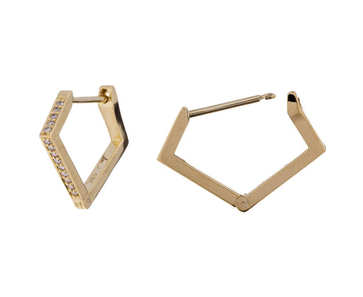 Angular Diamond Huggie Hoops - TWISTonline