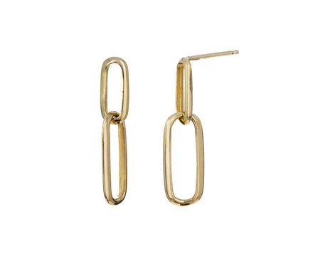 Double Knife Edge Link Earrings - TWISTonline