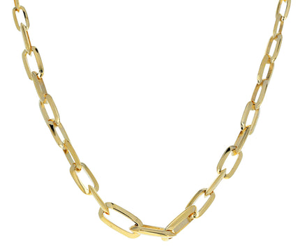 Graduated Knife Edge Link Necklace - TWISTonline