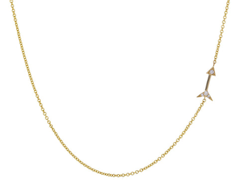 Mini Diamond Arrow Necklace