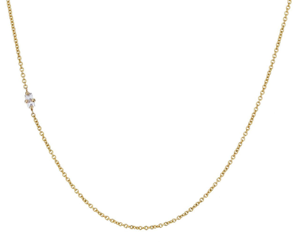 Diamond Baguette Floating Necklace - TWISTonline