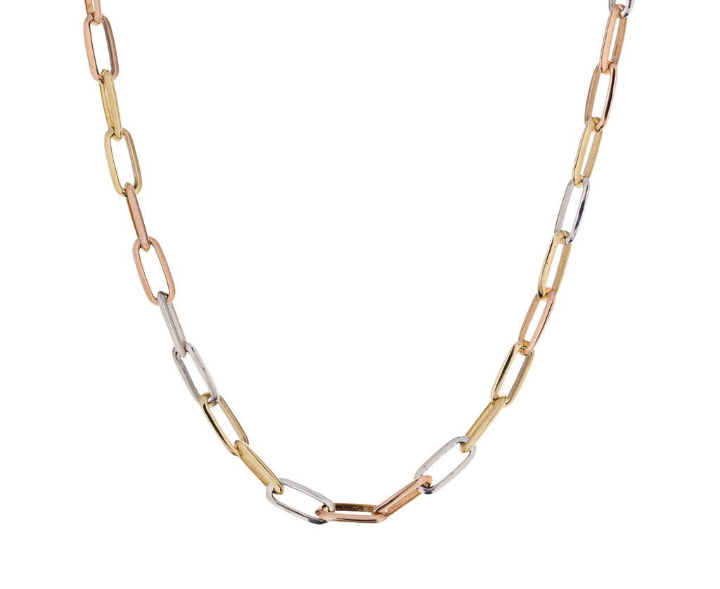 Mixed Metal Knife Edge Link Necklace - TWISTonline