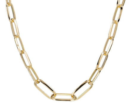 Graduated Knife Edge Oval Link Necklace - TWISTonline