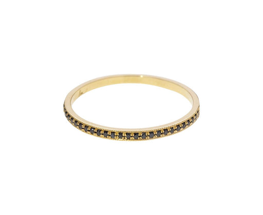 Black Diamond Pavé Stacking Ring - TWISTonline
