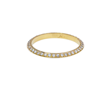 White Diamond and Enamel Knife Edge Ring - TWISTonline