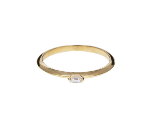 Tiny Knife Edge Diamond Baguette Solitaire - TWISTonline