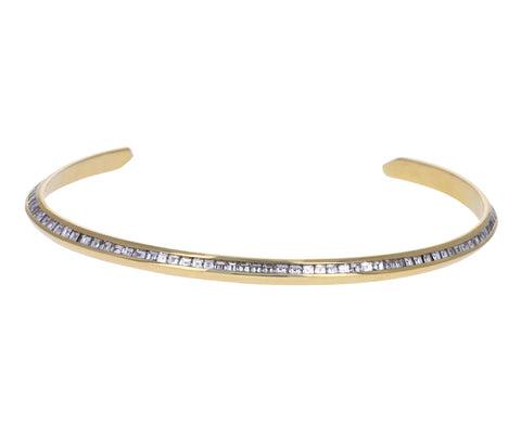 Carre Diamond Knife Edge Cuff Bracelet