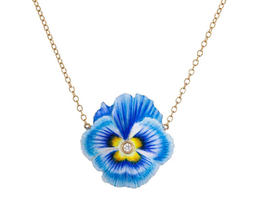 Pansy and Diamond Pendant Necklace - TWISTonline
