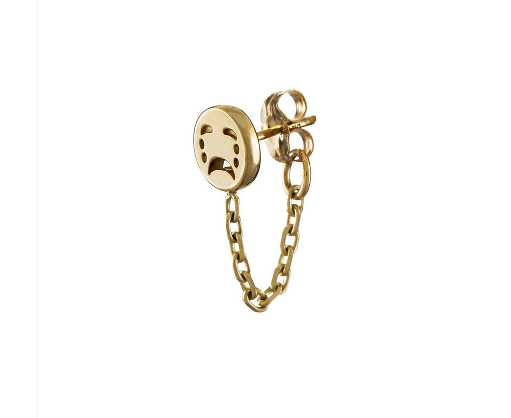 Sad Huggie Chain SINGLE EARRING - TWISTonline