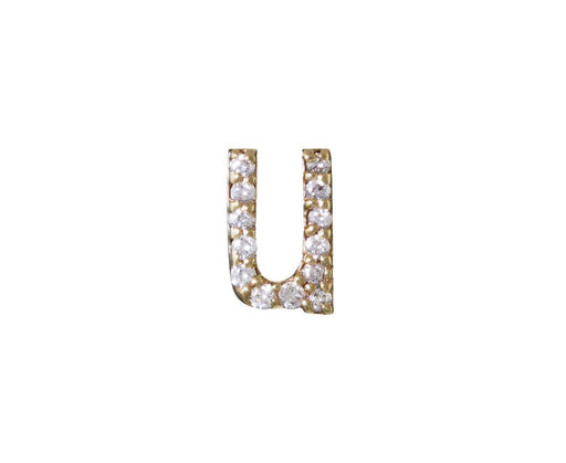 SINGLE Diamond 'u' Stud Earring - TWISTonline