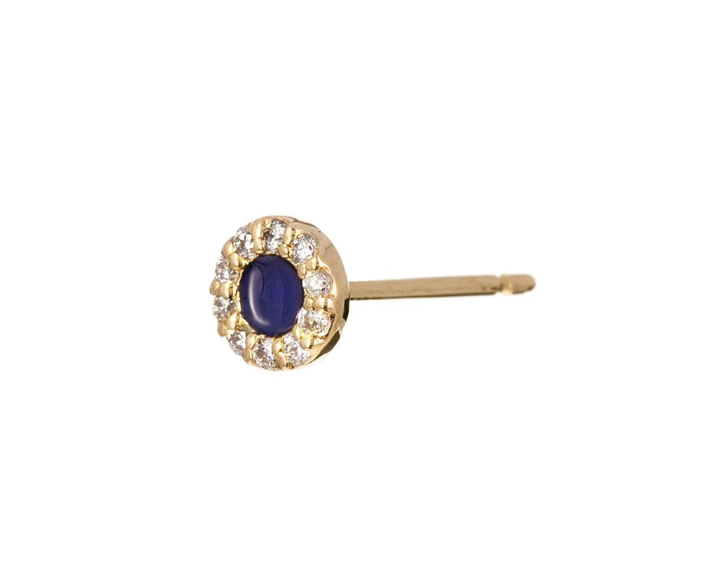 Bleu Fonce Enamel and Diamond Pavé SINGLE Earring - TWISTonline