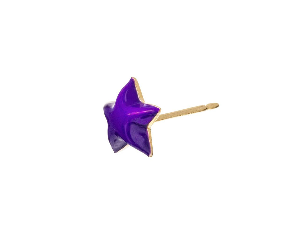 Aubergine Star SINGLE Earring - TWISTonline